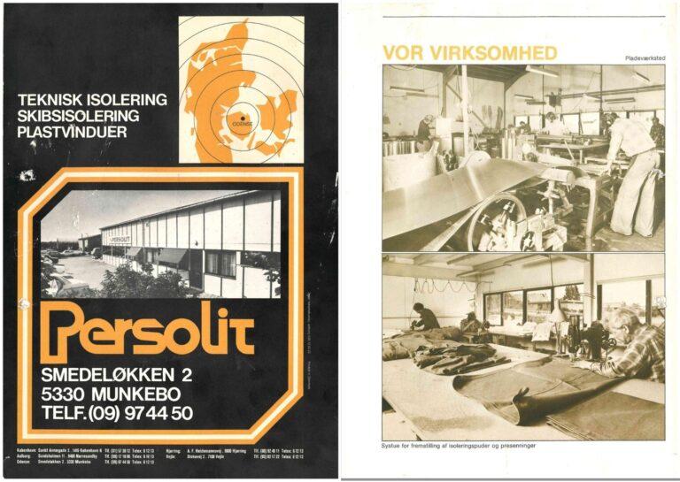 Persolits historie 1970-1989 teknisk isolering egenproduktion