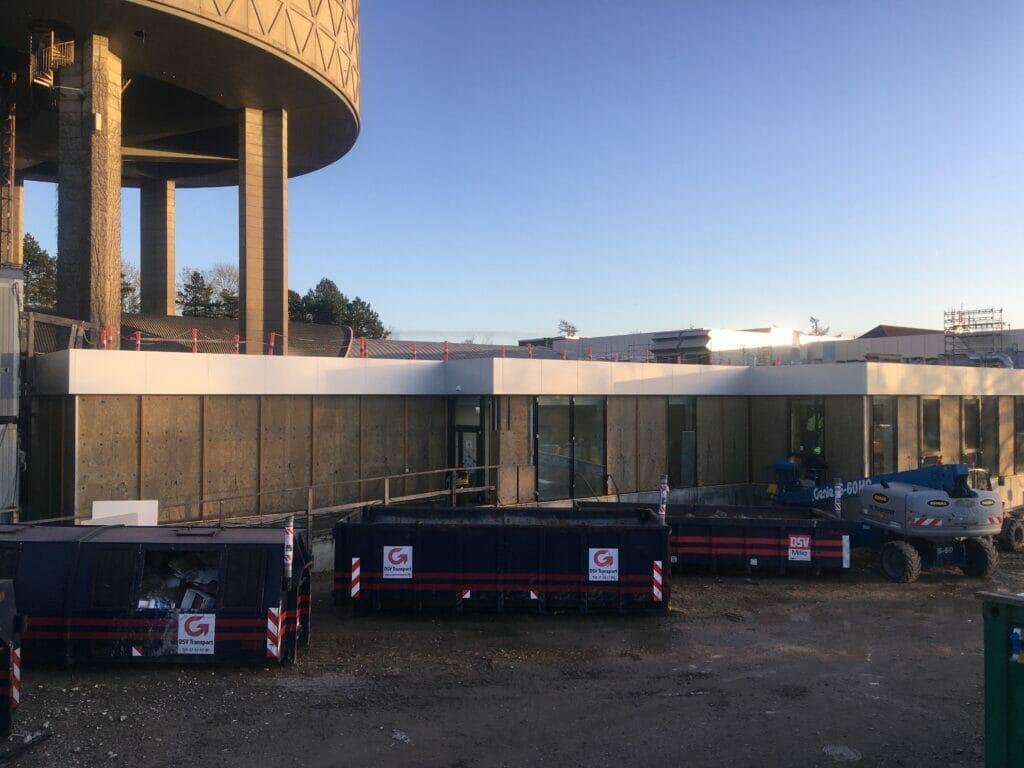 facade industri teknisk isolering Persolit Roskilde badet