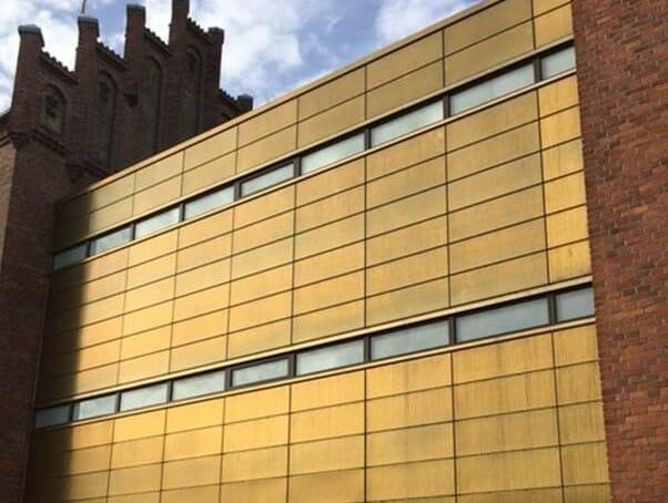 facade byggeri teknisk isolering Nyborg rådhus tombak