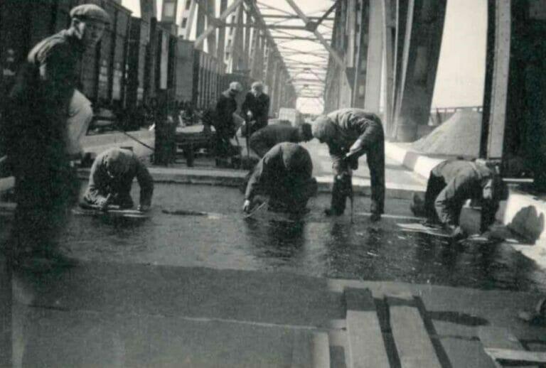 Persolits historie, arbejdere 1938 den gamle Lillebæltsbro